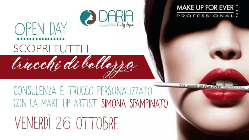 OPEN DAY – Make up Forever – Scopri tutti i segreti di bellezza